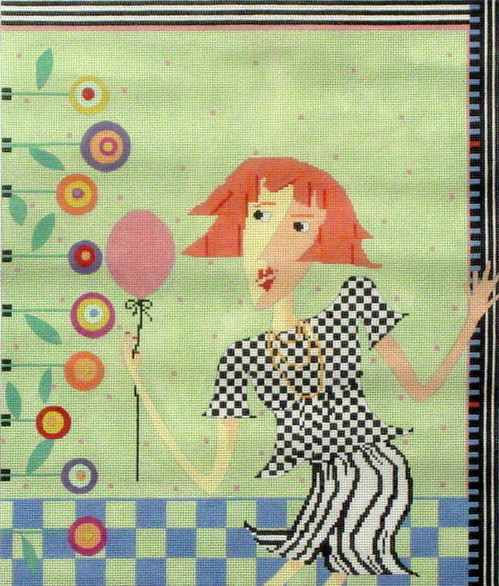 Party Girl   (hand painted by Penny McLeod) 18*PM-265
