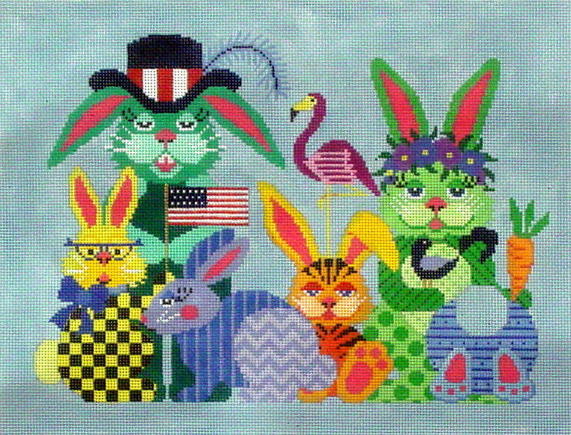 Some Bunny Needs Some Bunny Sometime   (handpainted from JP Needlepoint Designs) 18**A-353