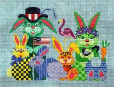 Some Bunny Needs Some Bunny Sometime   (handpainted from JP Needlepoint Designs)