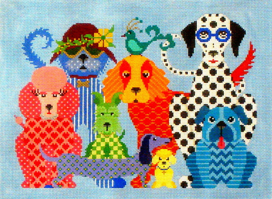 Dog Gone Good    (Handpainted by J P Needlepoint) 18*A352