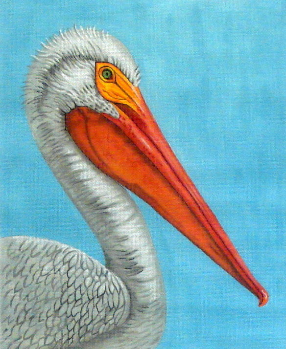 White Pelican   (handpainted from Dream House Ventures) 18*CL-3645