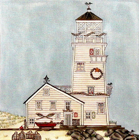 Lighthouse    (Hand Painted by Painted Pony) 18*SSBH-02
