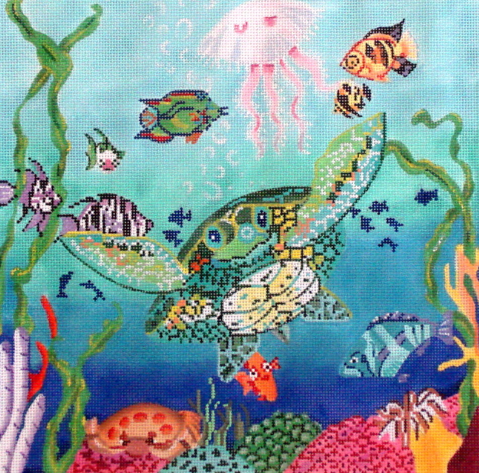 Under Water Pillow    (Handpainted by Trubey) 18*P-250