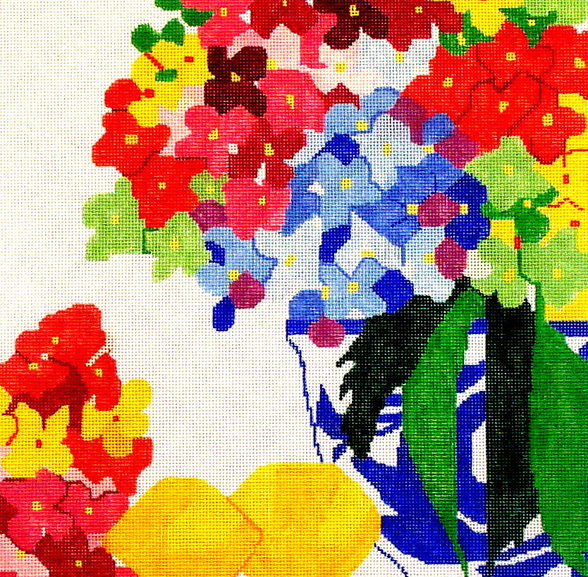 Hydrangea Party    (handpainted by Jean Smith) 18*13