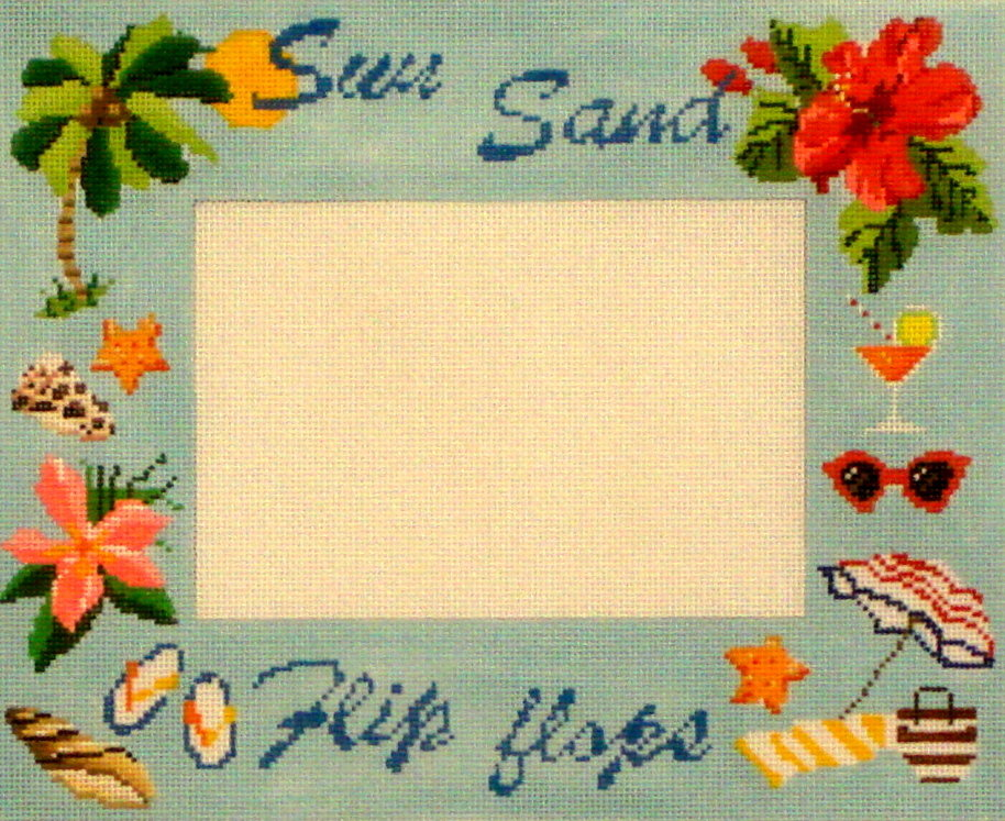 Sun/Sand Frame   (Hand Painted by Kirk and Bradley) 18*KB-1347