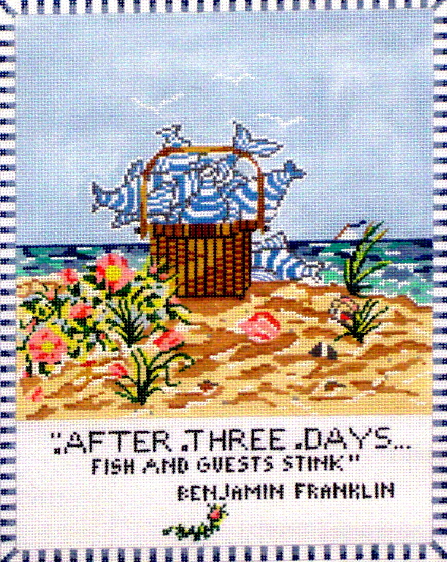 After 3 Days Fish & Guests Stink   (Hand Painted by Cooper Oaks) 18*SWB1073