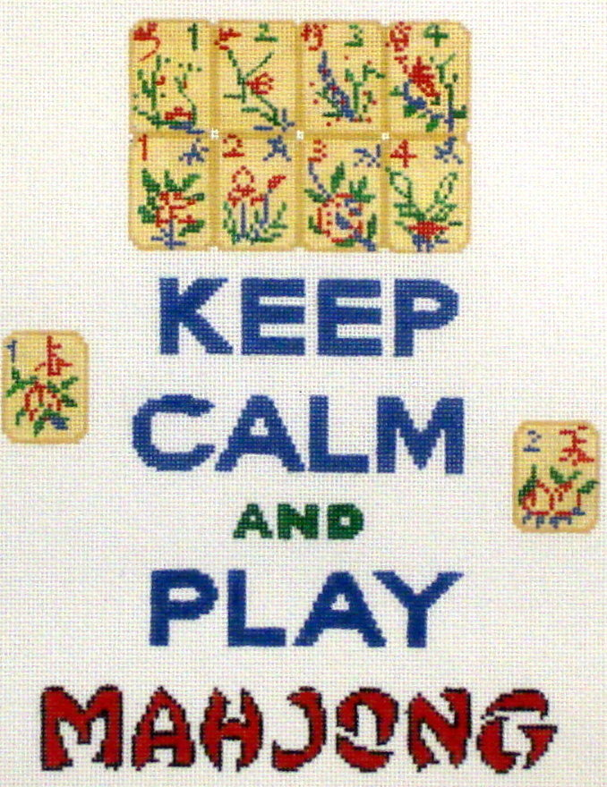Keep Calm and Play Mahjong   (Hand Painted by Kate Dickerson) 18*SS-233