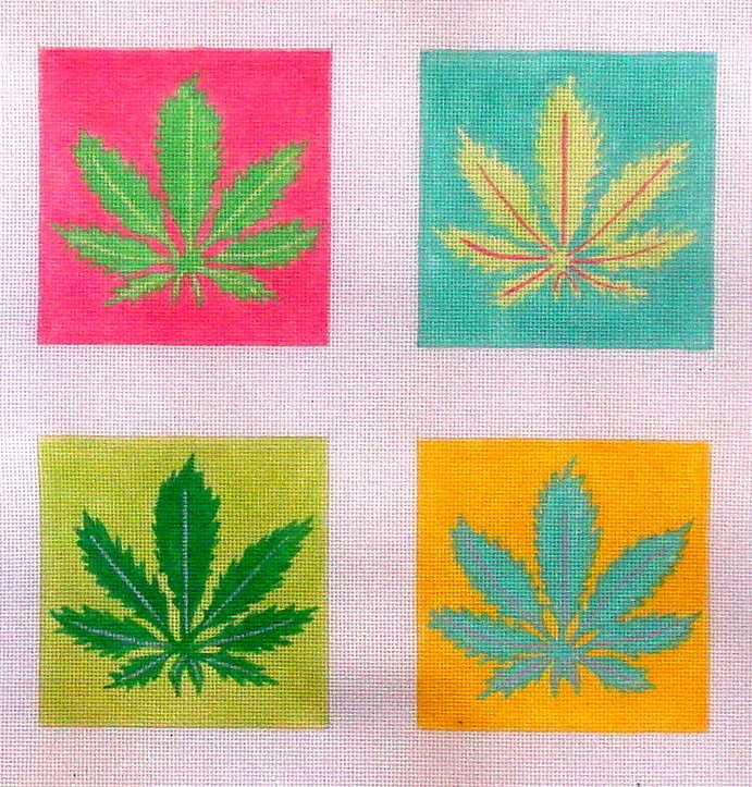 Plant Coasters     (Hand Painted by Kate Dickerson) 18*DO4-420