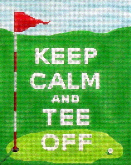 Keep Calm and Tee Off   (Handpainted by Kate Dickerson) 18*SS-230