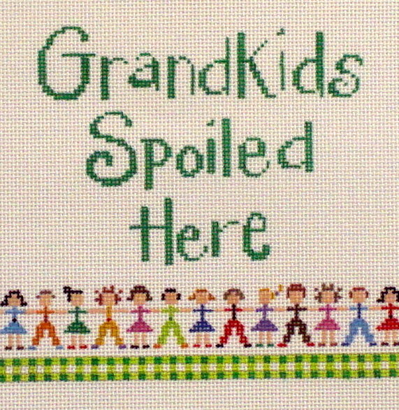 """Grand Kids Spoiled Here""    (Hand Painted by Patti Mann) 18*22089"