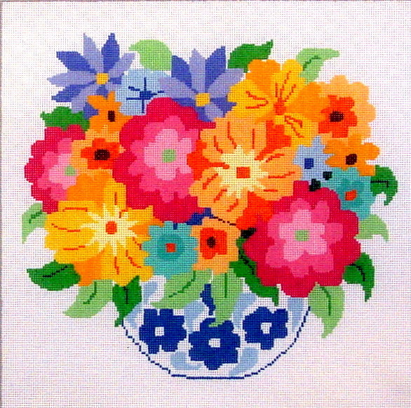 Summer Bouquet    (handpainted by Jean Smith) 18*31-A