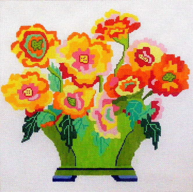 Sizzle Bouquet   (handpainted by Jean Smith) 18*76-B