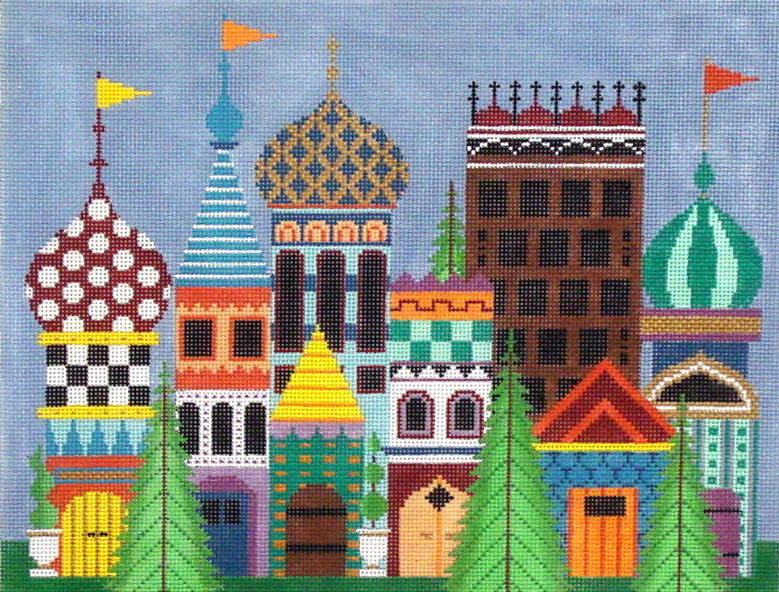 Magical Village      (hand painted by JP Designs) 18*L-451
