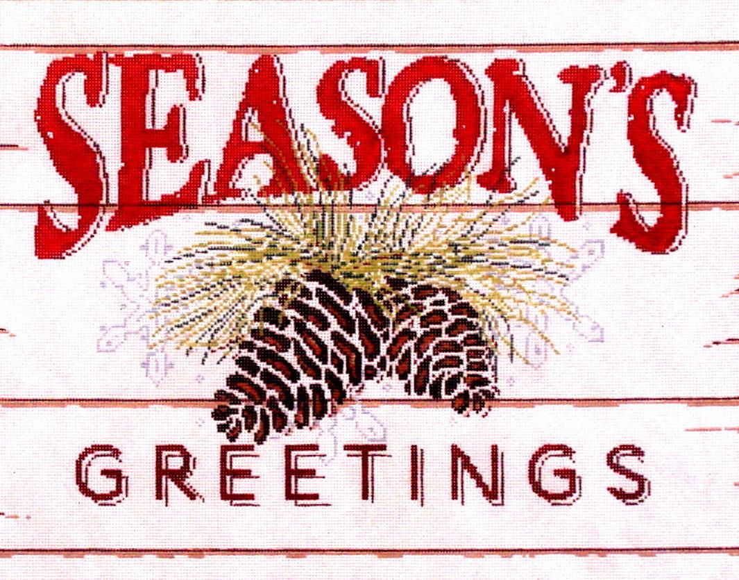Season's Greetings   (Handpainted by Fleur de Paris)