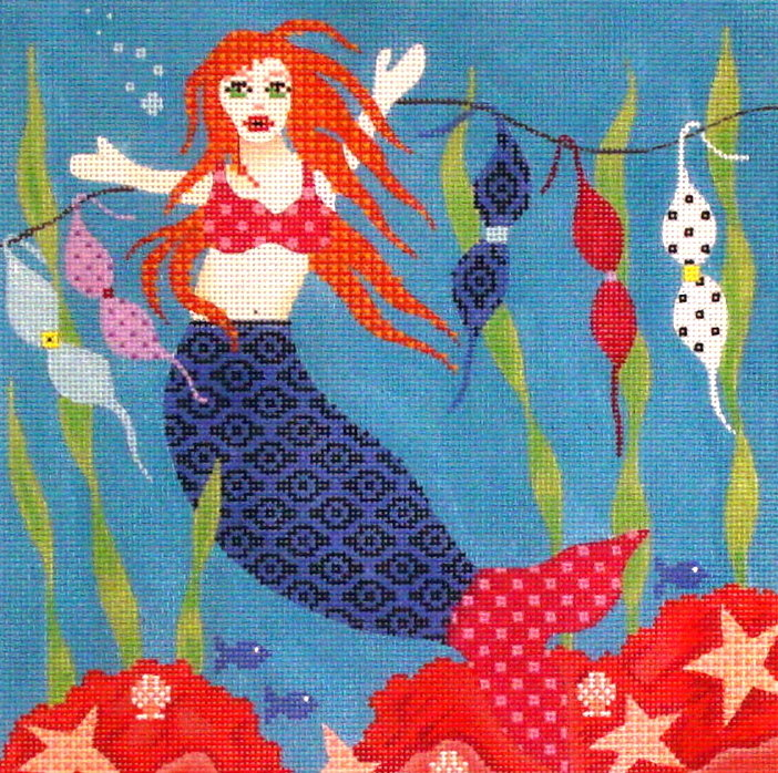 Mermaid     (handpainted by Maggie) 18*MJ-004