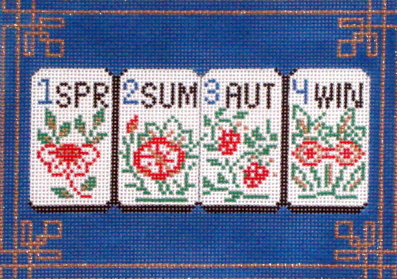 Mahjong Seasons    (handpainted by Alice Peterson)