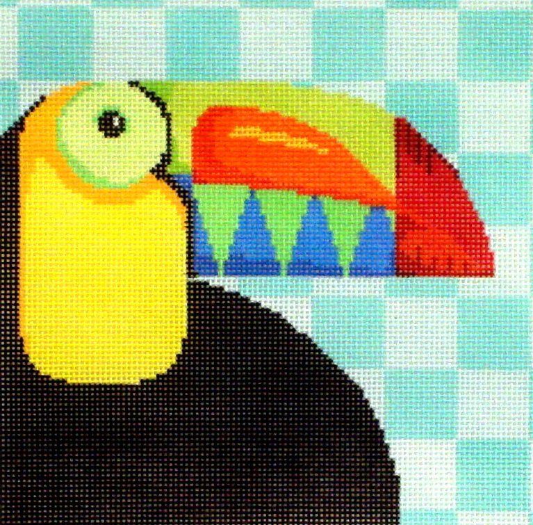 Toucan     (handpainted from Two Sisters) 18*SQ-70