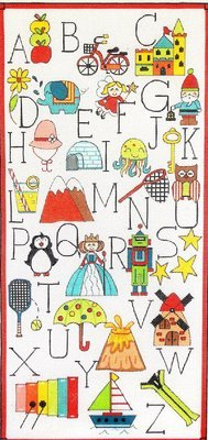 Alphabet   (handpainted by Alice Peterson)