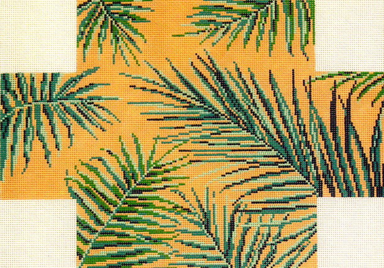 Palm Frond    (handpainted by Needle Crossing) 18*2759