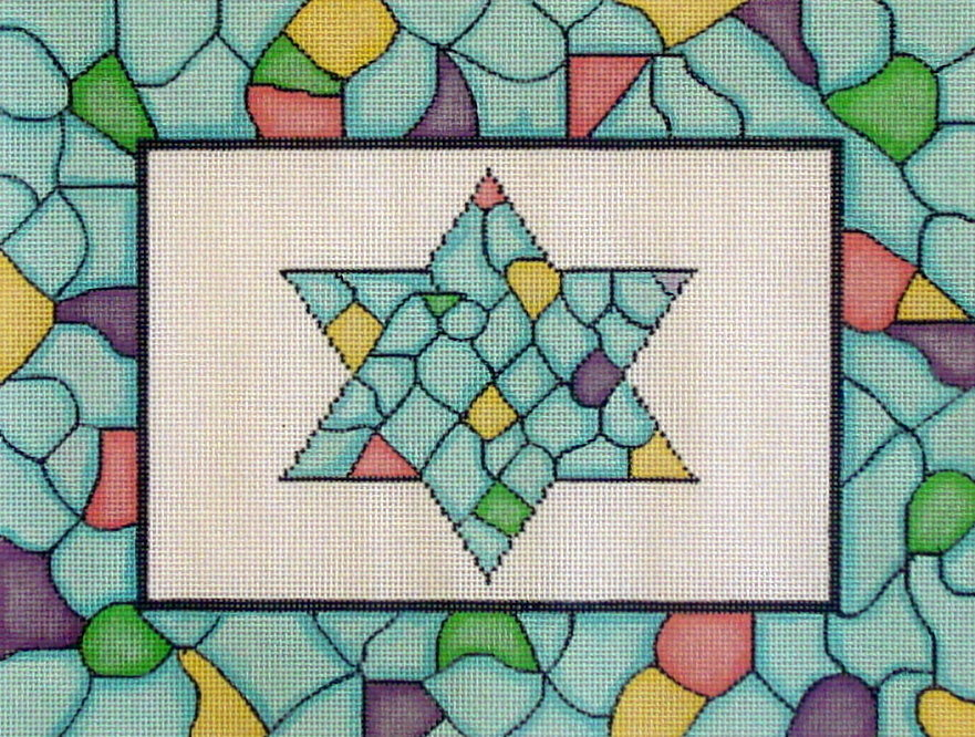 Mosaic Star    (handpainted by Magic Needle) 18*MN-542