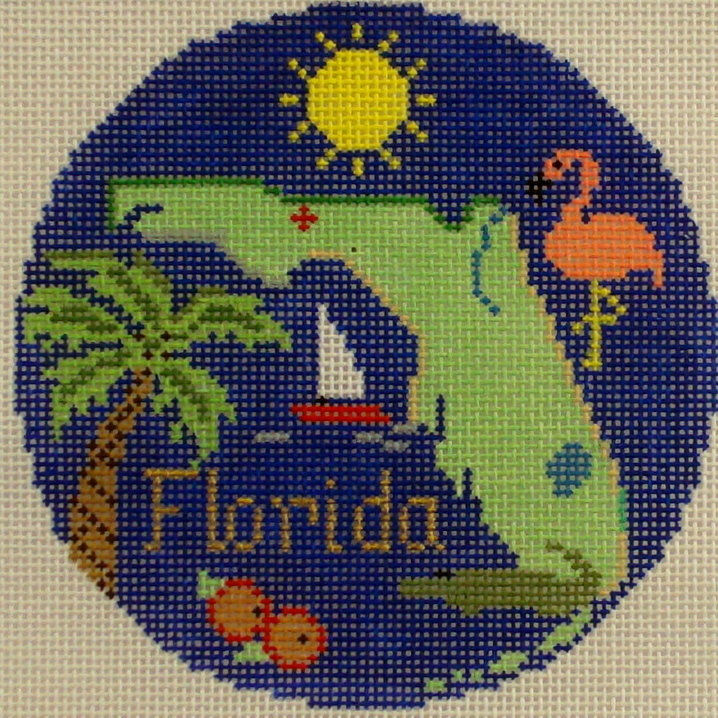 Florida Ornament     (handpainted by Silver Needle)