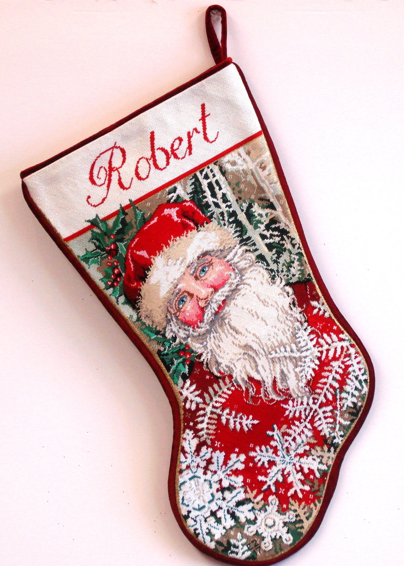 Winter Wonderland Stocking  (handpainted by Sandra Gilmore)
