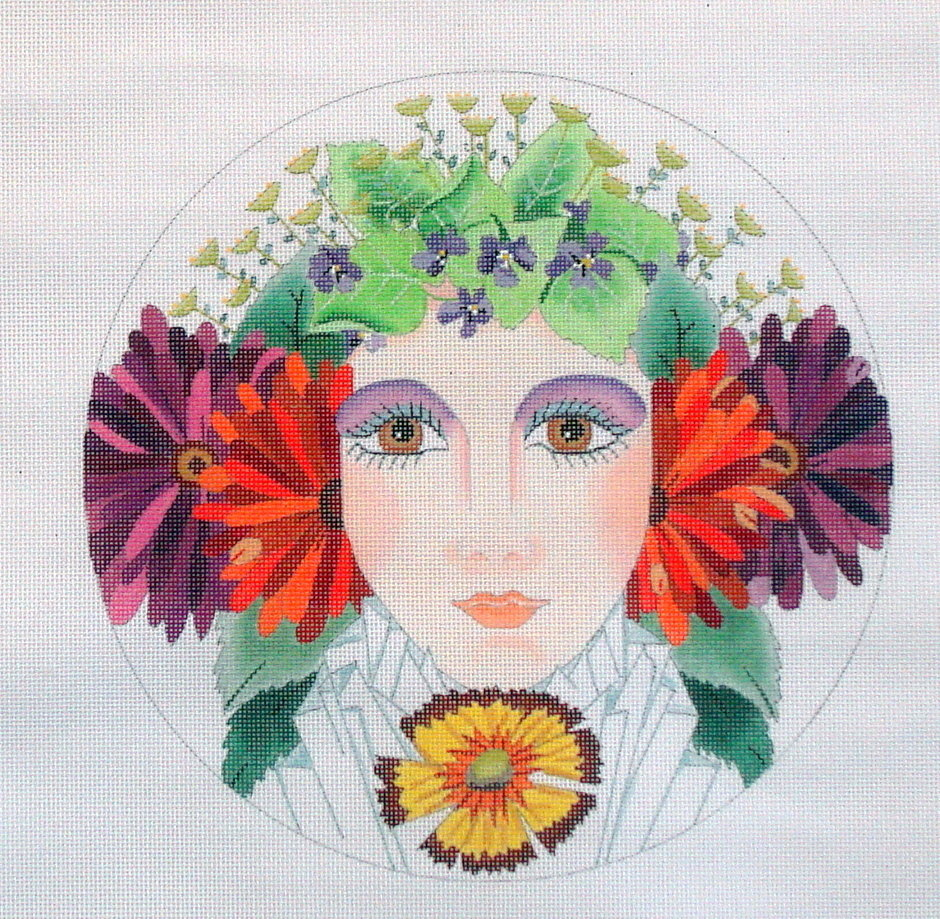 Floral Girl Summer  (handpainted by Dede) 19*ED-17149
