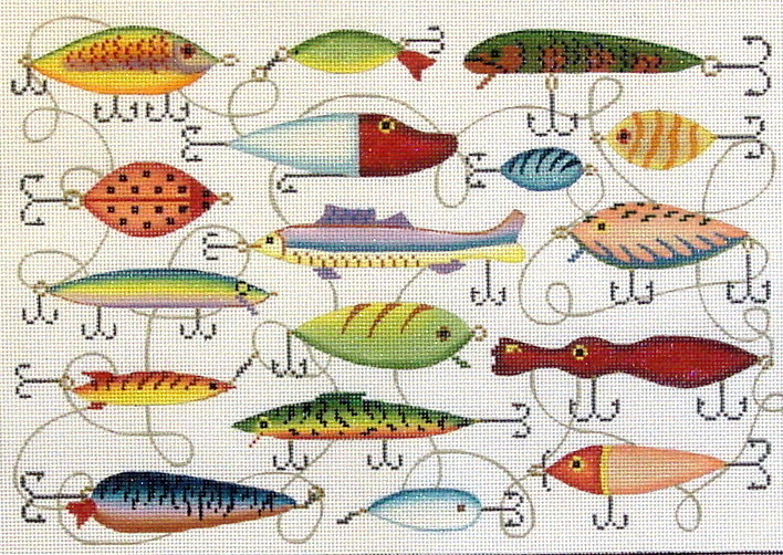 Lured Tails    (handpainted by JP Needlepoint) 19*S-175