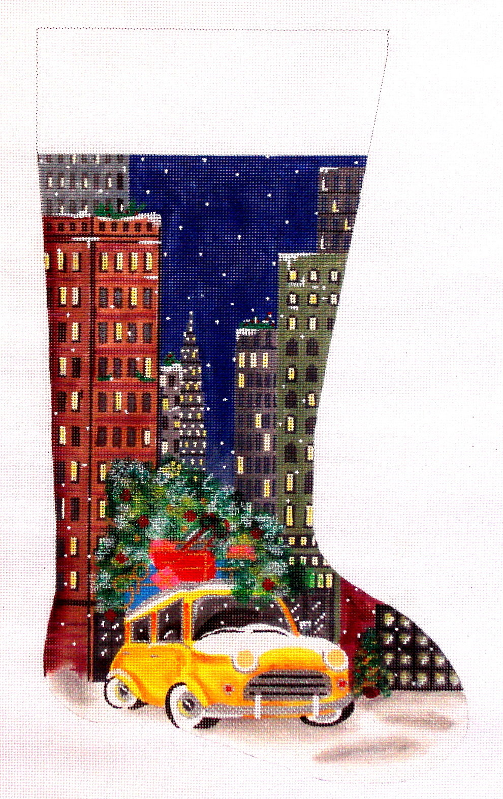 Taxi in City    (handpainted by Alice Peterson) 19*-2940