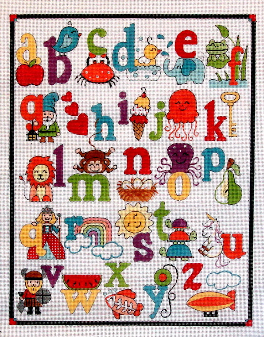 """Alphabet   (handpainted by Alice Peterson) 19*3086"