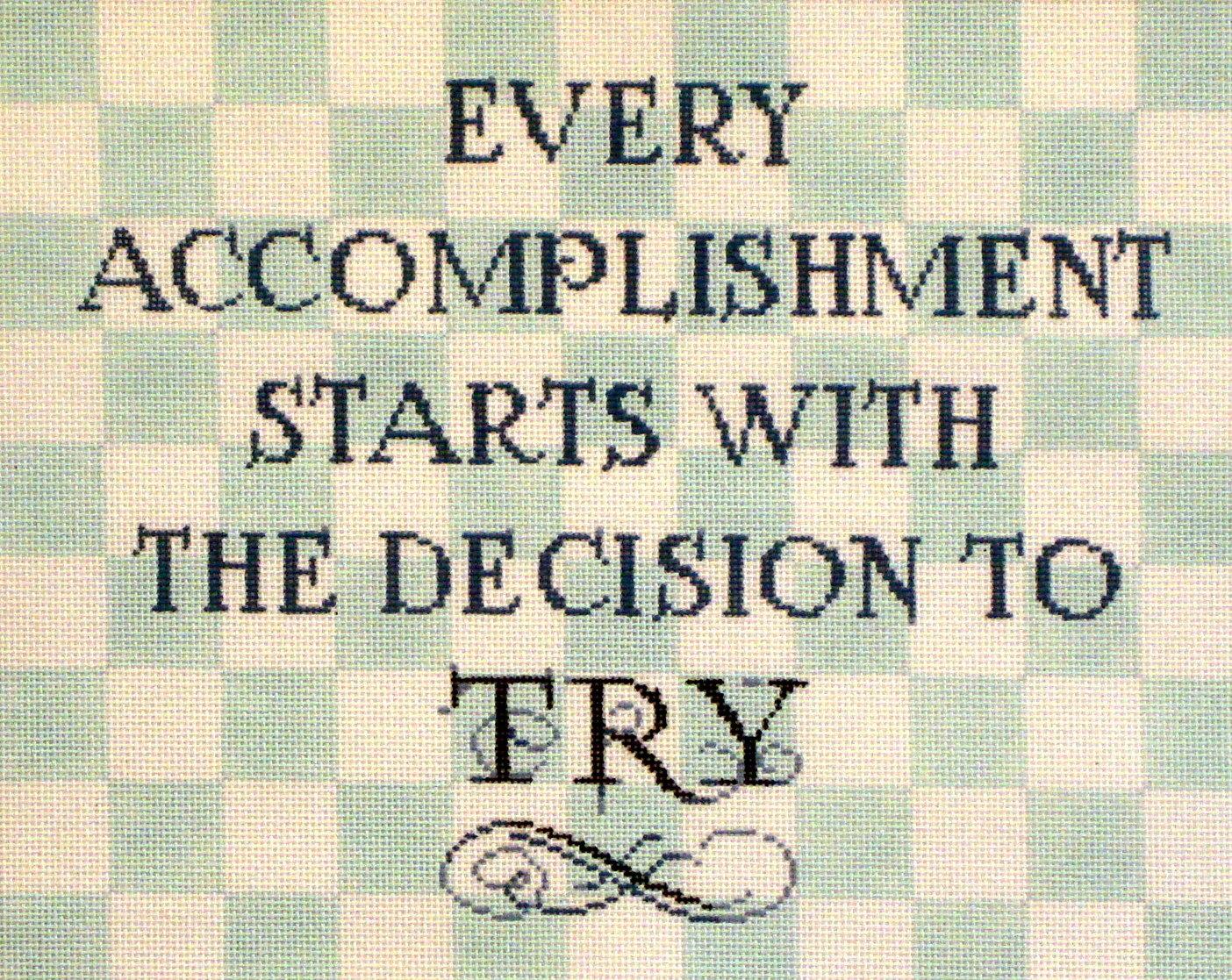 """""""Every Accomplishment.....""""    (handpainter from Fleur de Paris) 19*18-1137"""