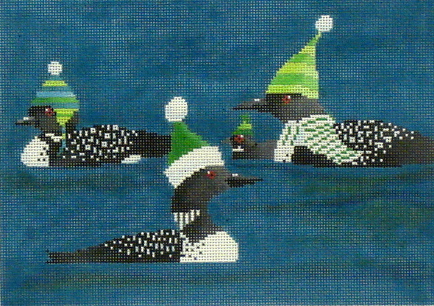 3 Loons   (Hand painted by Scott Church from CBK Designs)) 18*SC-PL-48