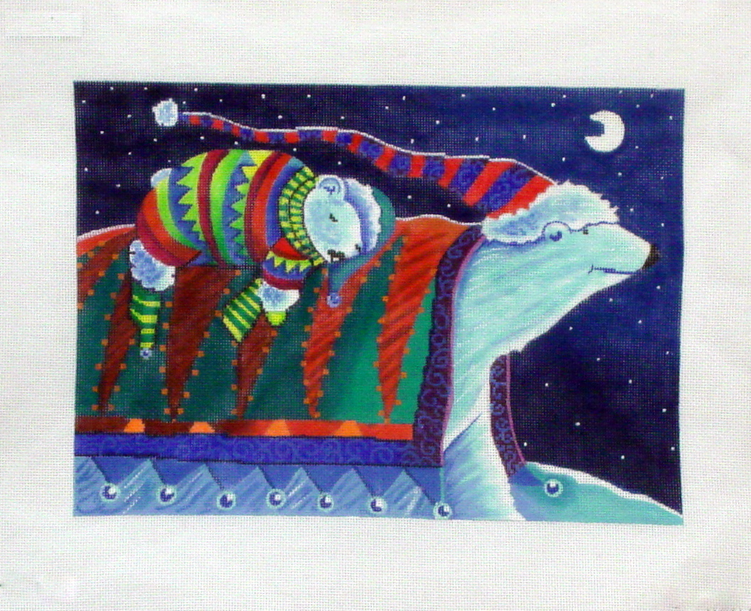 A Ride Home   (handpainted needlepoint canvas by Michele Noiset from CBK Needlepoint Collection) 18*MN-PL10