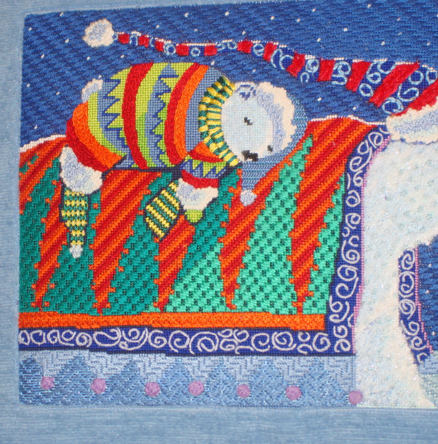 A Ride Home   (handpainted needlepoint canvas by Michele Noiset from CBK Needlepoint Collection)