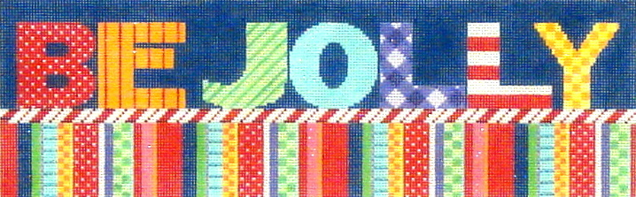 Be Jolly    (handpainted needlepoint canvas  by Associated Talents) 18*M201
