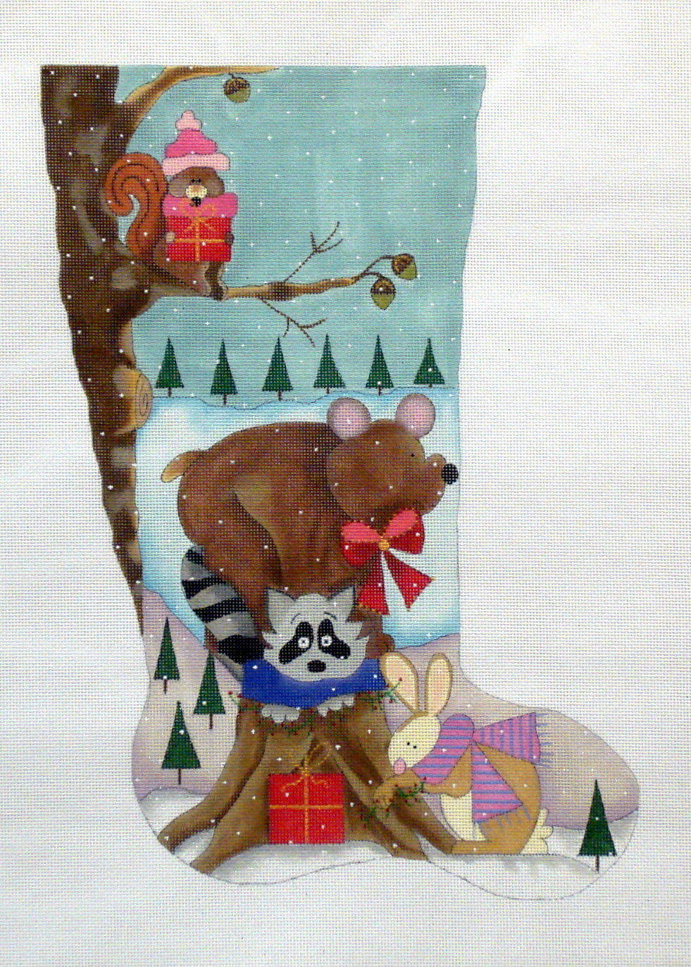 Critter Stocking One (Handpainted by Renaissance Designs) 19*ST117