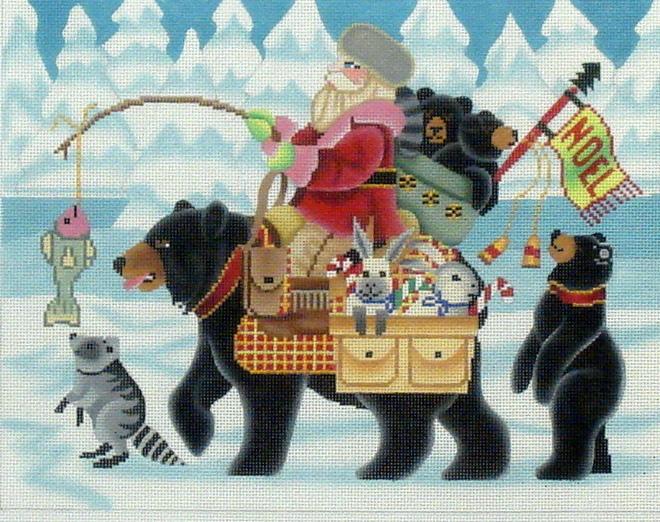 Frontier Santa (Handpainted by Brenda Stofft Designs) 18*B-148