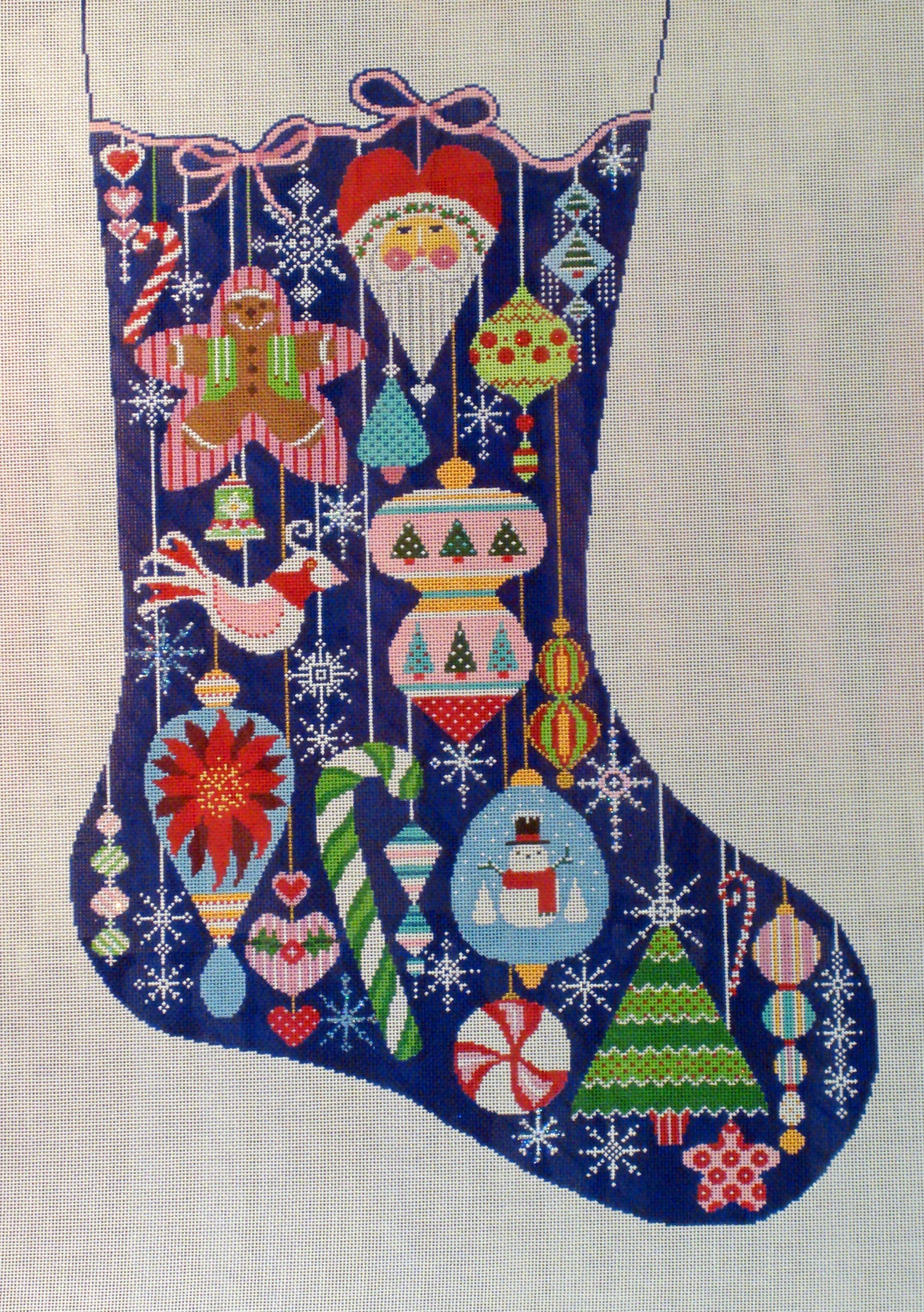 Happy Holiday Ornament Stocking (Handpainted by Shelly Tribbey Designs) 18*CS50