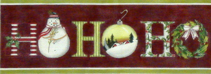 HO-HO-HO  (Red)    (handpainted by Melissa Shirley) 18*MLT-227