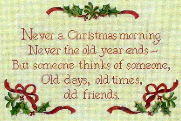 Never a Christmas Morning (Handpainted from Needlepoint Alley) 18*003
