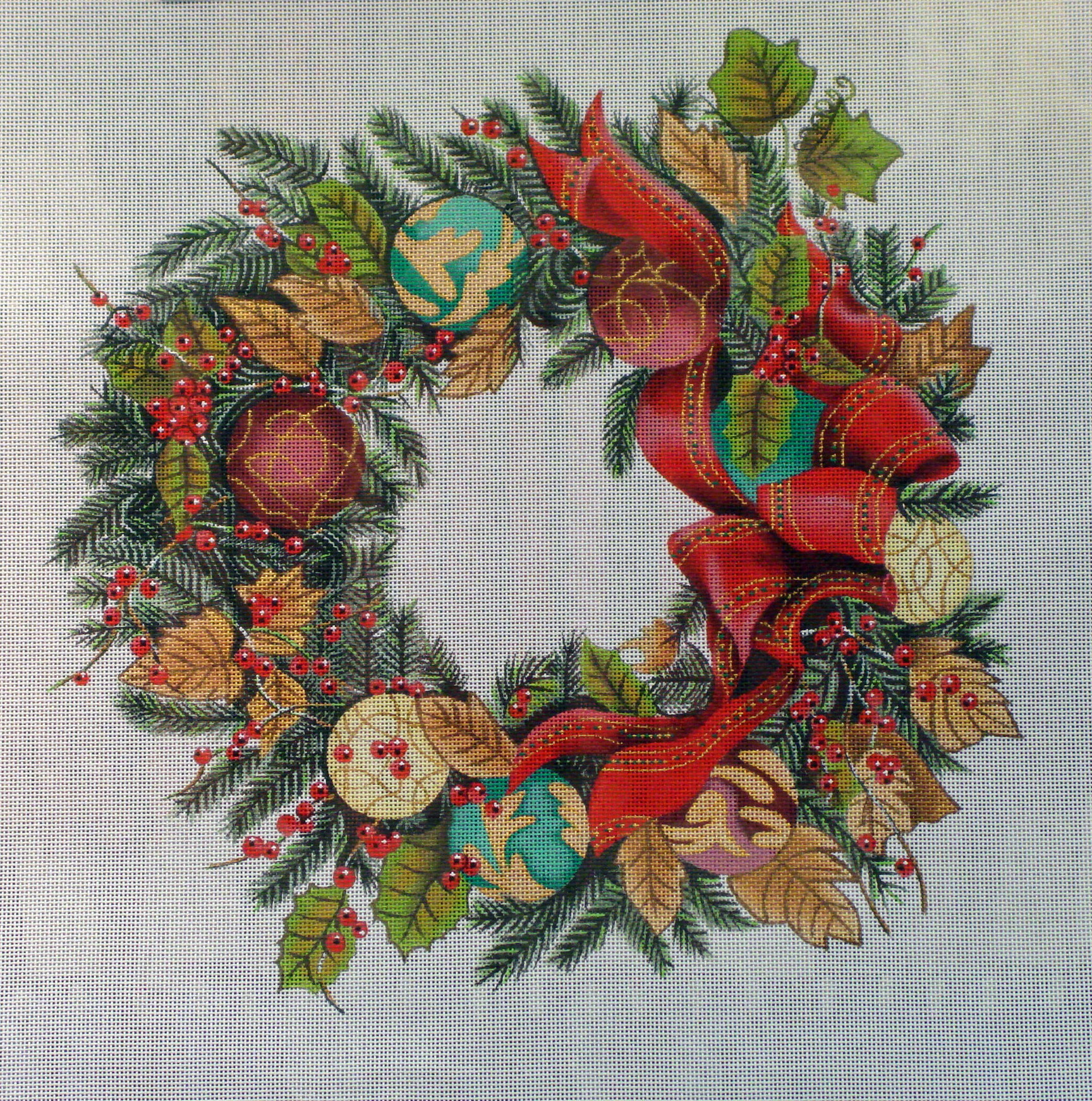 Ornament Wreath      (handpainted by Trubey) 18*XST011