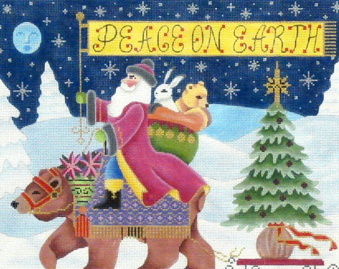 Peace on Earth  (Handpainted by Brenda Stofft Designs) 18*B156