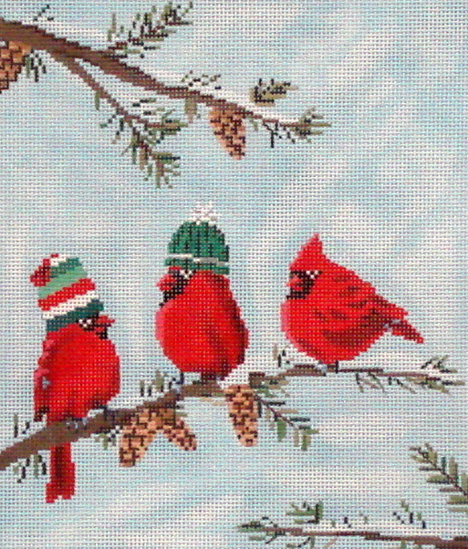 Red Birds II  (Handpainted by Scott Church) 18*SC-PL11