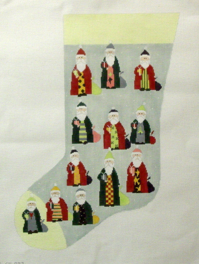 Santa Stocking  (handpainted from Pippin Studio) 18*P-CH-003