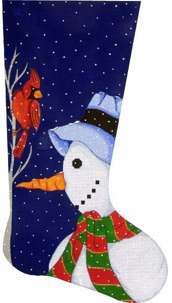 Snowman Stocking      (handpainted by A03-8466