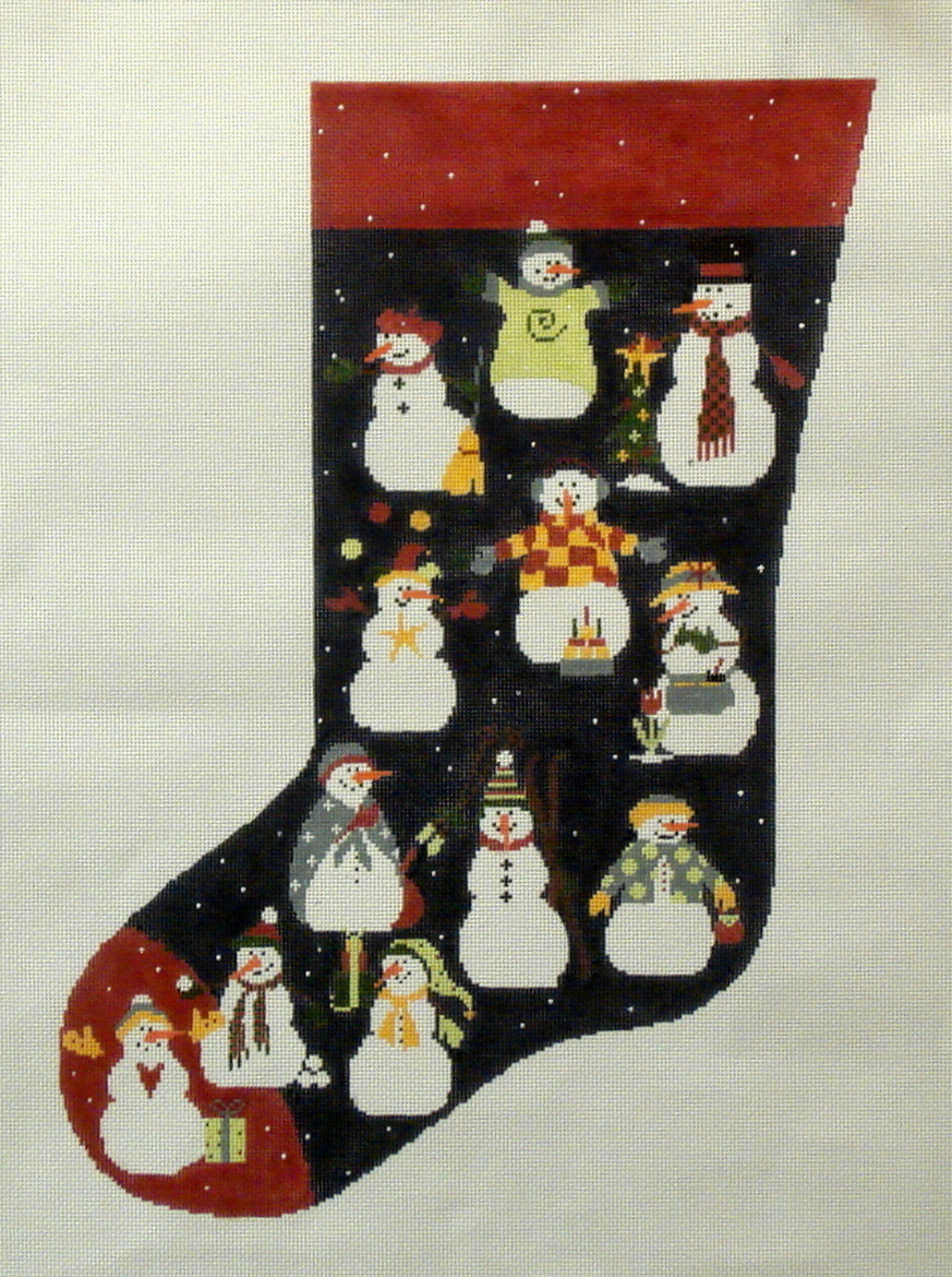 Snowman Stocking  (handpainted from Pippin Studio) 18*P-CH-001