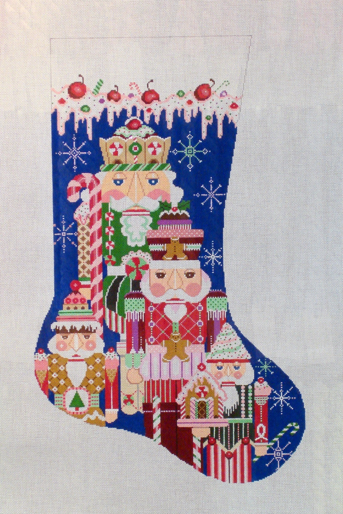 Sweetest Nutcrackers Stocking (Handpainted by Shelly Tribbey Designs) 18*CS52