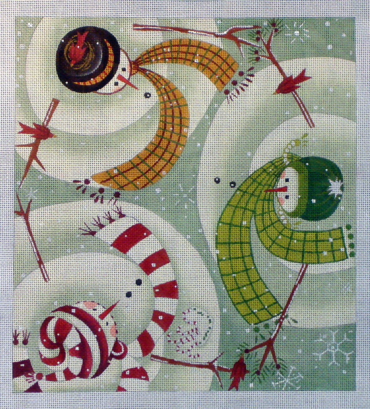 Warm Greetings  (Hand Painted Canvas by Maggie & Company) 18*EWE-355