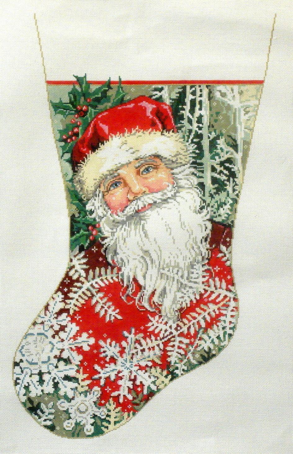 Winter Wonderland Stocking  (handpainted by Sandra Gilmore) 18*16-141