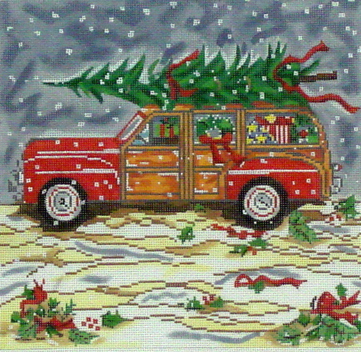 Woody/Christmas (Handpainted by Cooper Oaks Design) 19*SWB-136